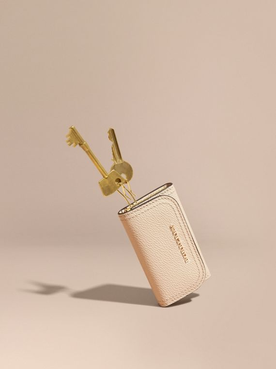 Étui porte-clés en cuir grainé (Calcaire)