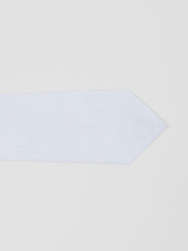 Classic Cut Geometric Print Cotton Tie in Pale Blue | Burberry - cell image 2