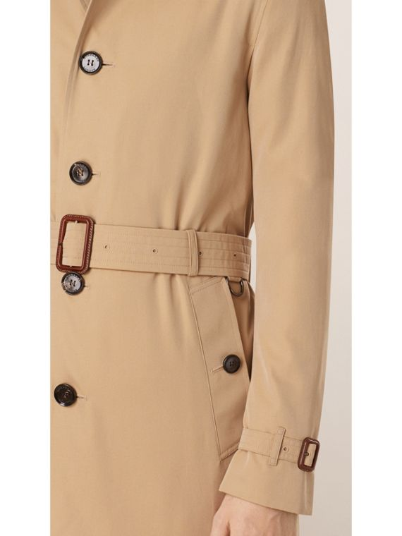 Cotton Gabardine Trench Coat in Honey - Men | Burberry - cell image 3