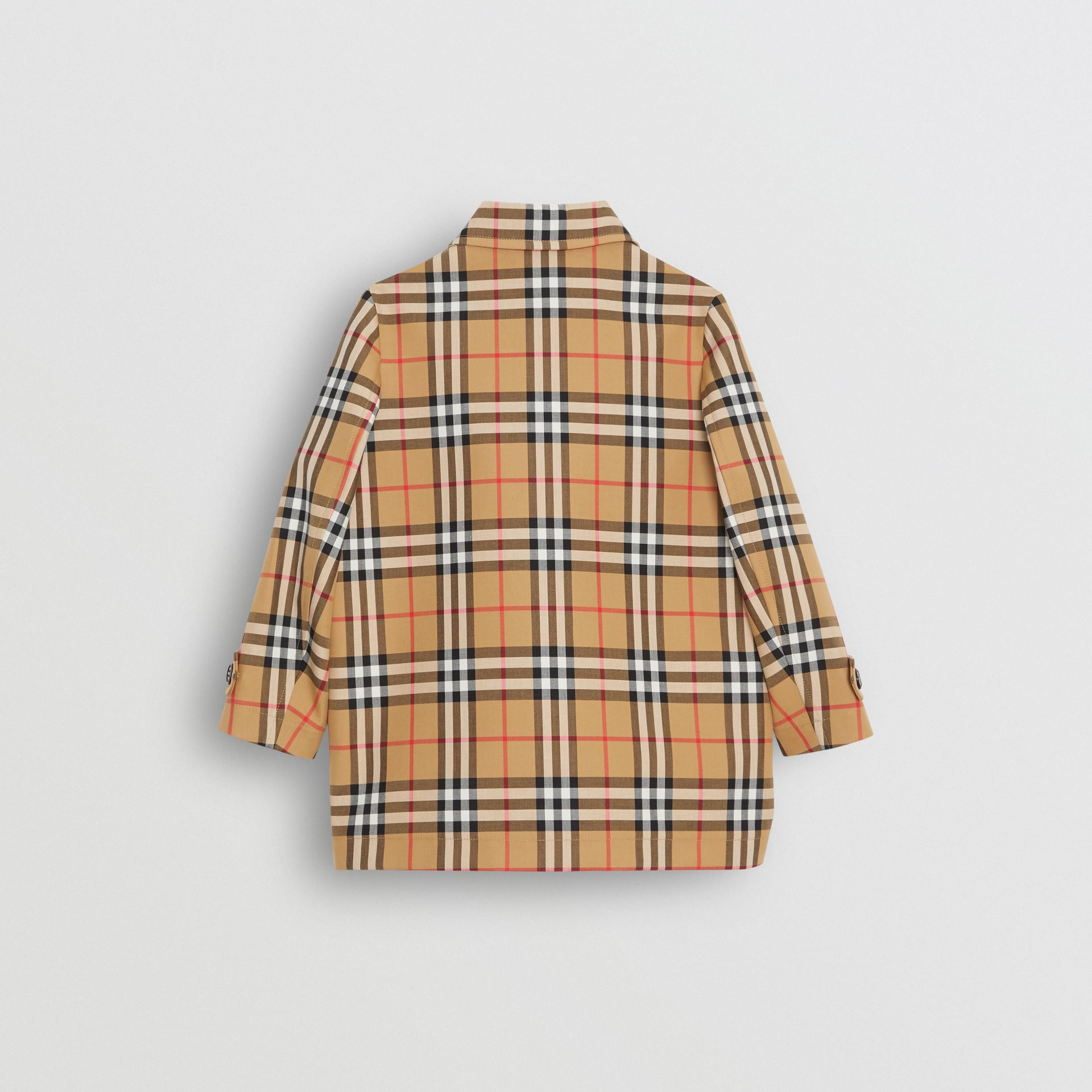 Vintage Check Cotton Car Coat in Antique Yellow | Burberry - gallery image 3