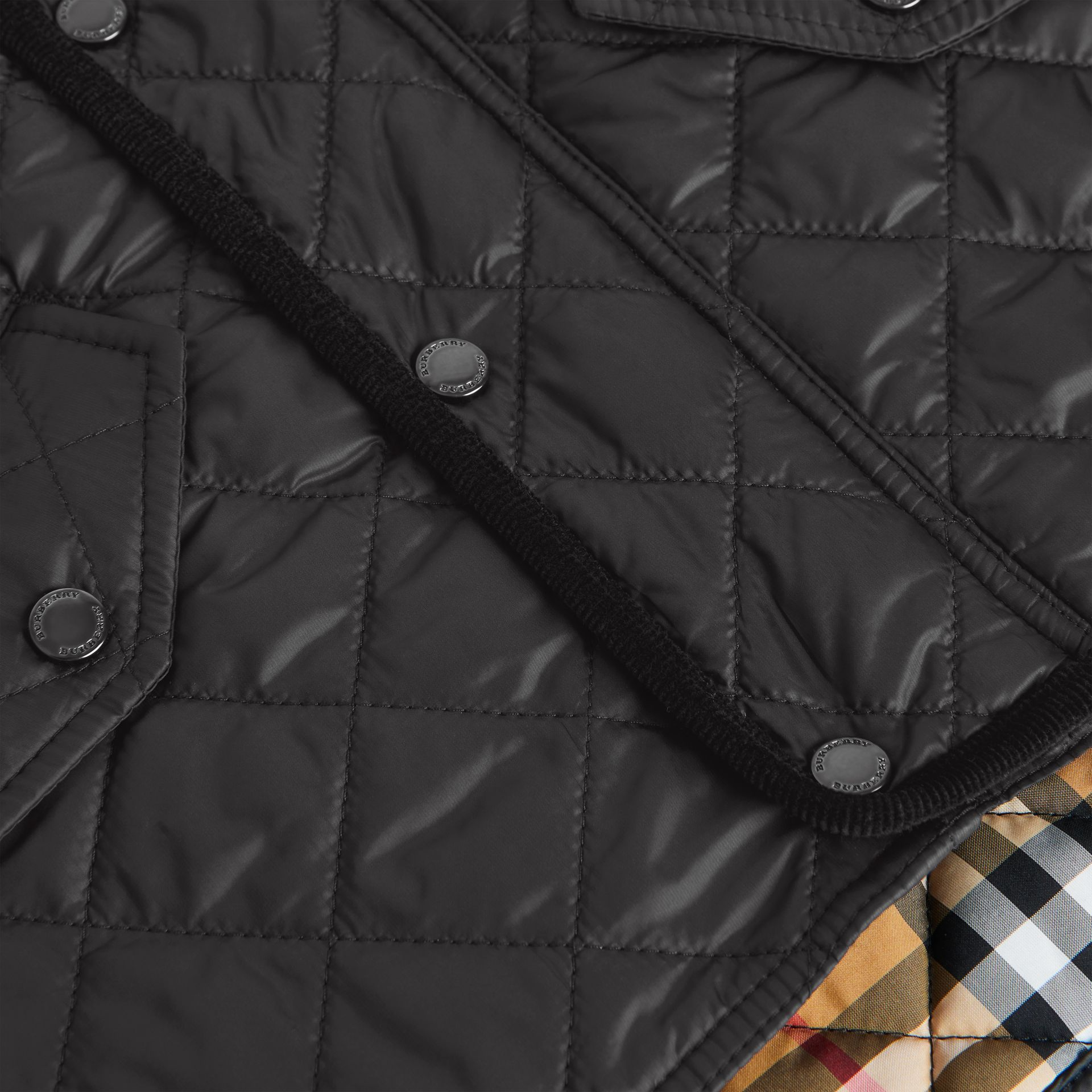 Lightweight Diamond Quilted Jacket in Black | Burberry Canada - gallery image 1