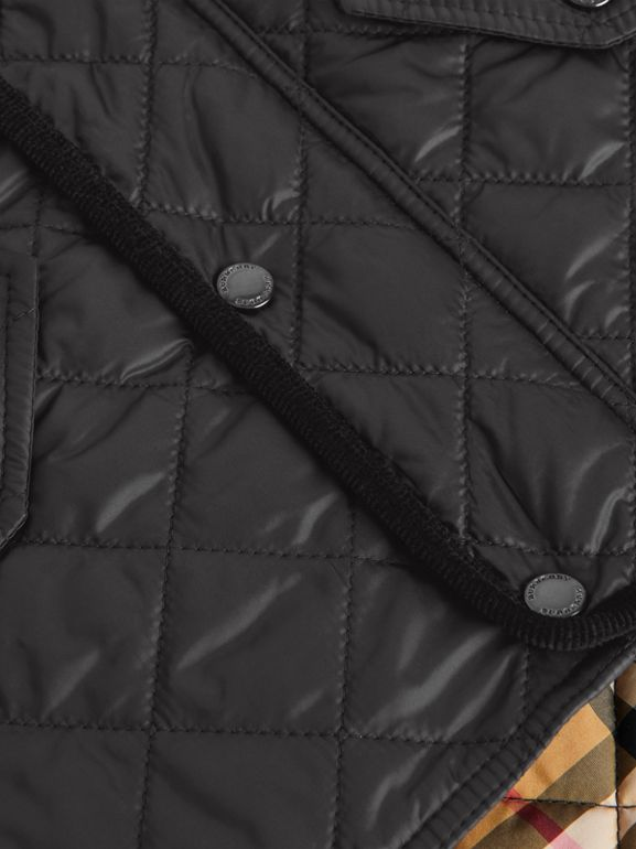Lightweight Diamond Quilted Jacket in Black | Burberry Canada - cell image 1