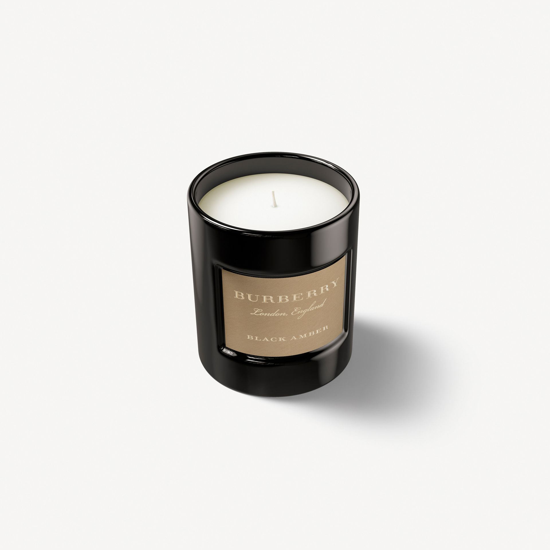 Black Amber Scented Candle – 240g | Burberry - gallery image 0