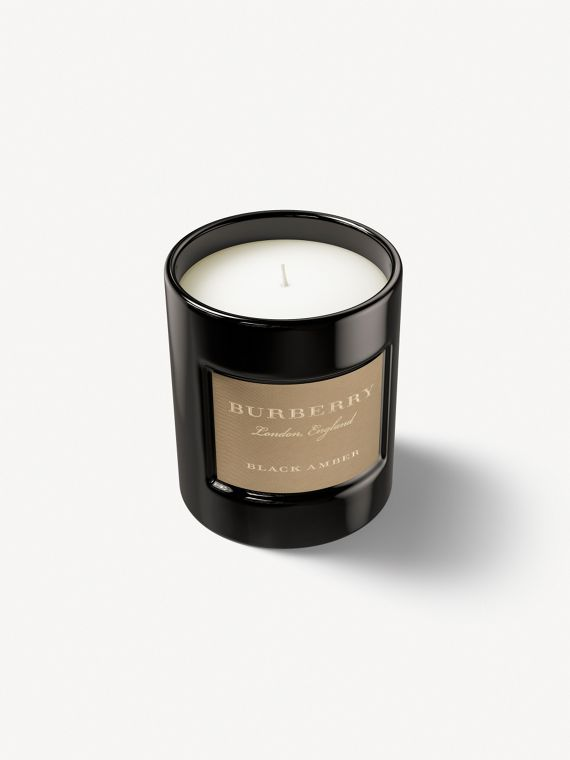 Black Amber Scented Candle – 240g | Burberry Singapore