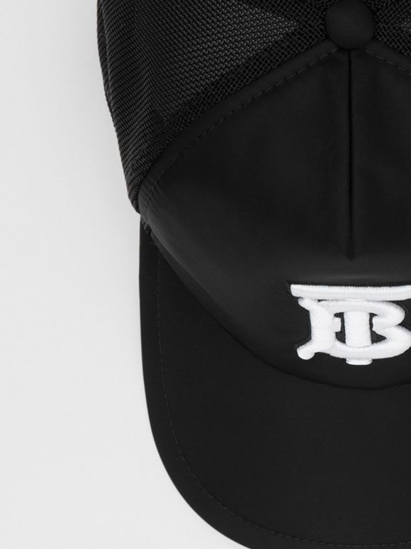 Monogram Motif Baseball Cap in Black | Burberry United Kingdom - cell image 1