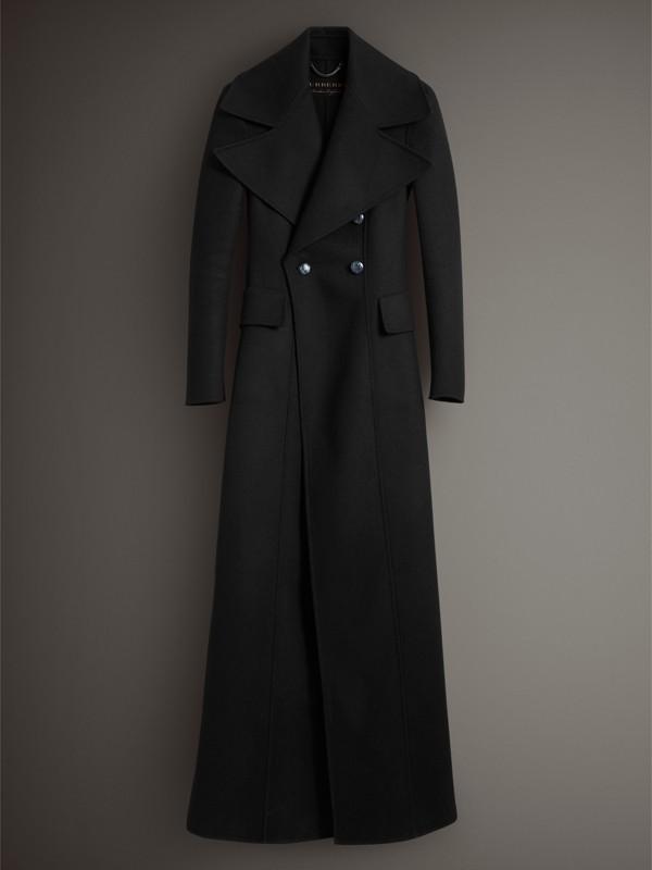 Abrigo de vestir largo en lana afieltrada (Negro) - Mujer | Burberry - cell image 3