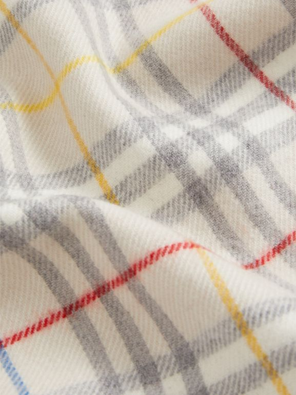Check Merino Wool Baby Blanket in Multicolour - Children | Burberry - cell image 1
