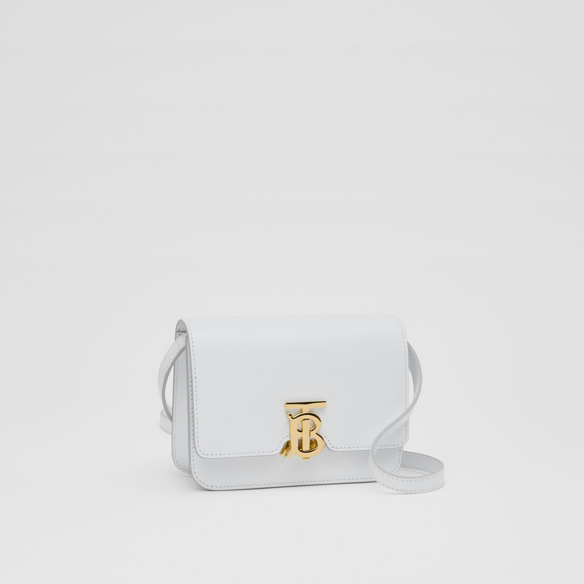 Mini Leather TB Bag in Optic White - Women | Burberry - gallery image 4