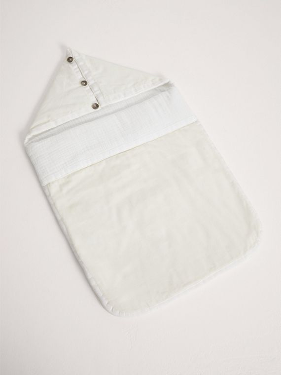 Quilted Cotton Baby Nest in Off White