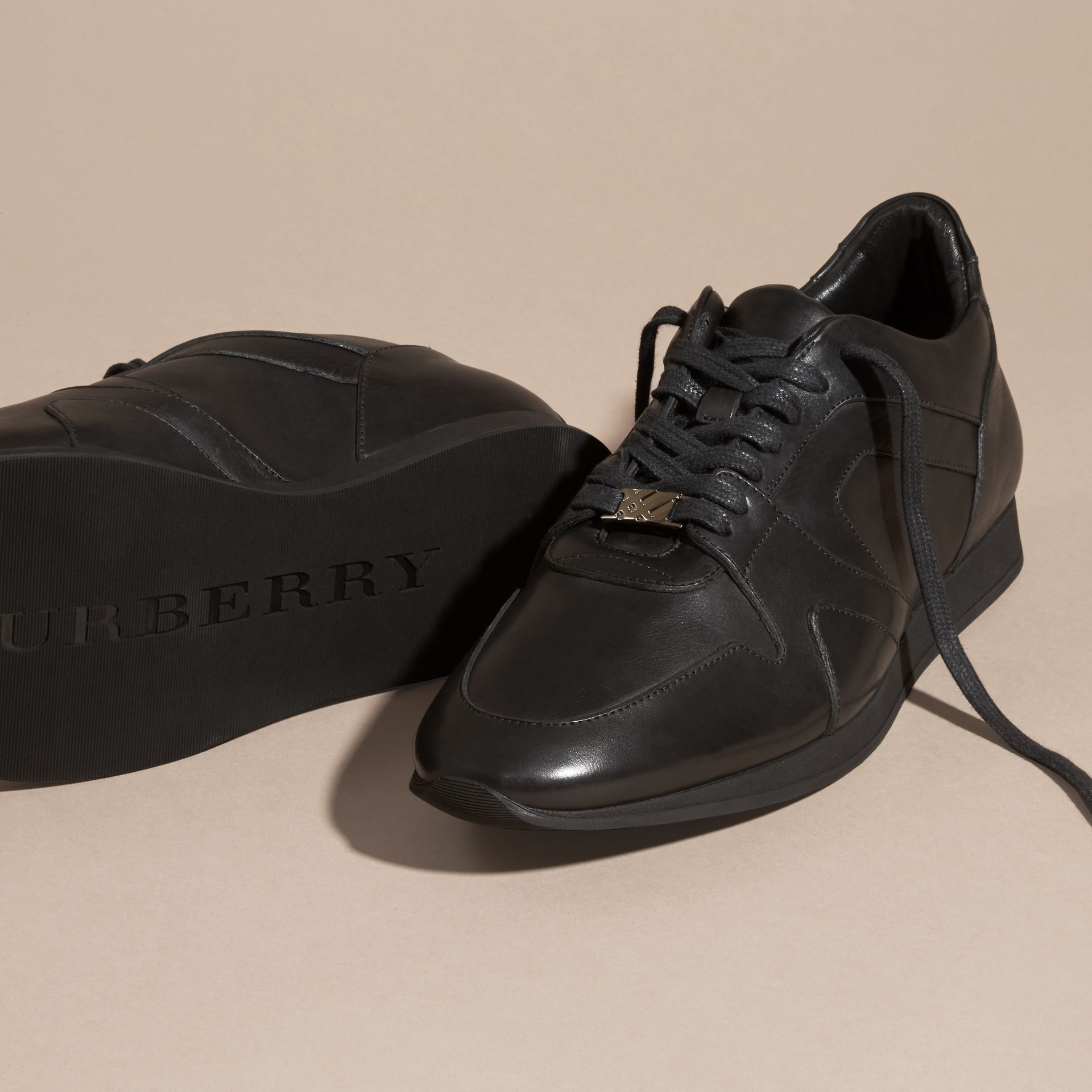 Black The Field Sneaker in Leather Black - gallery image 5