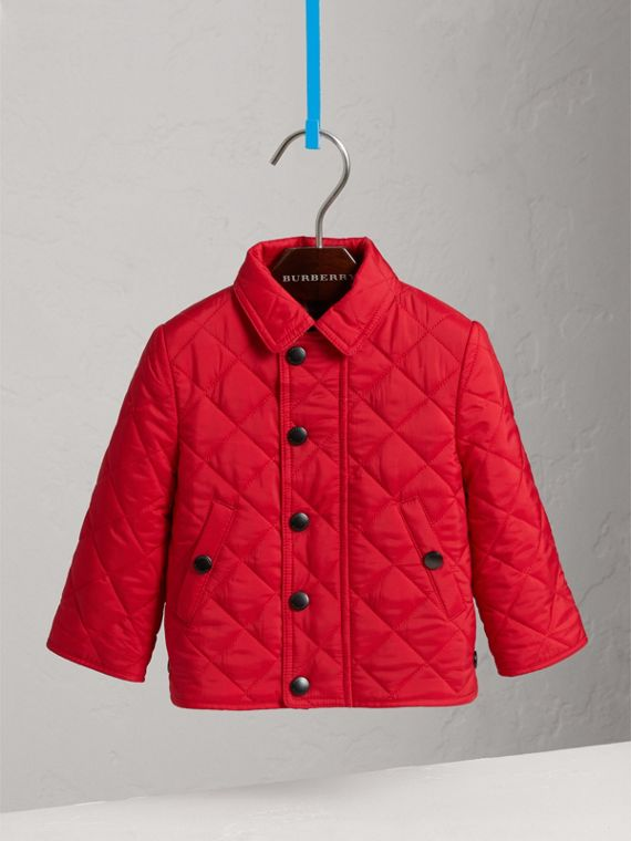 Lightweight Quilted Jacket in Bright Cherry Red | Burberry - cell image 2