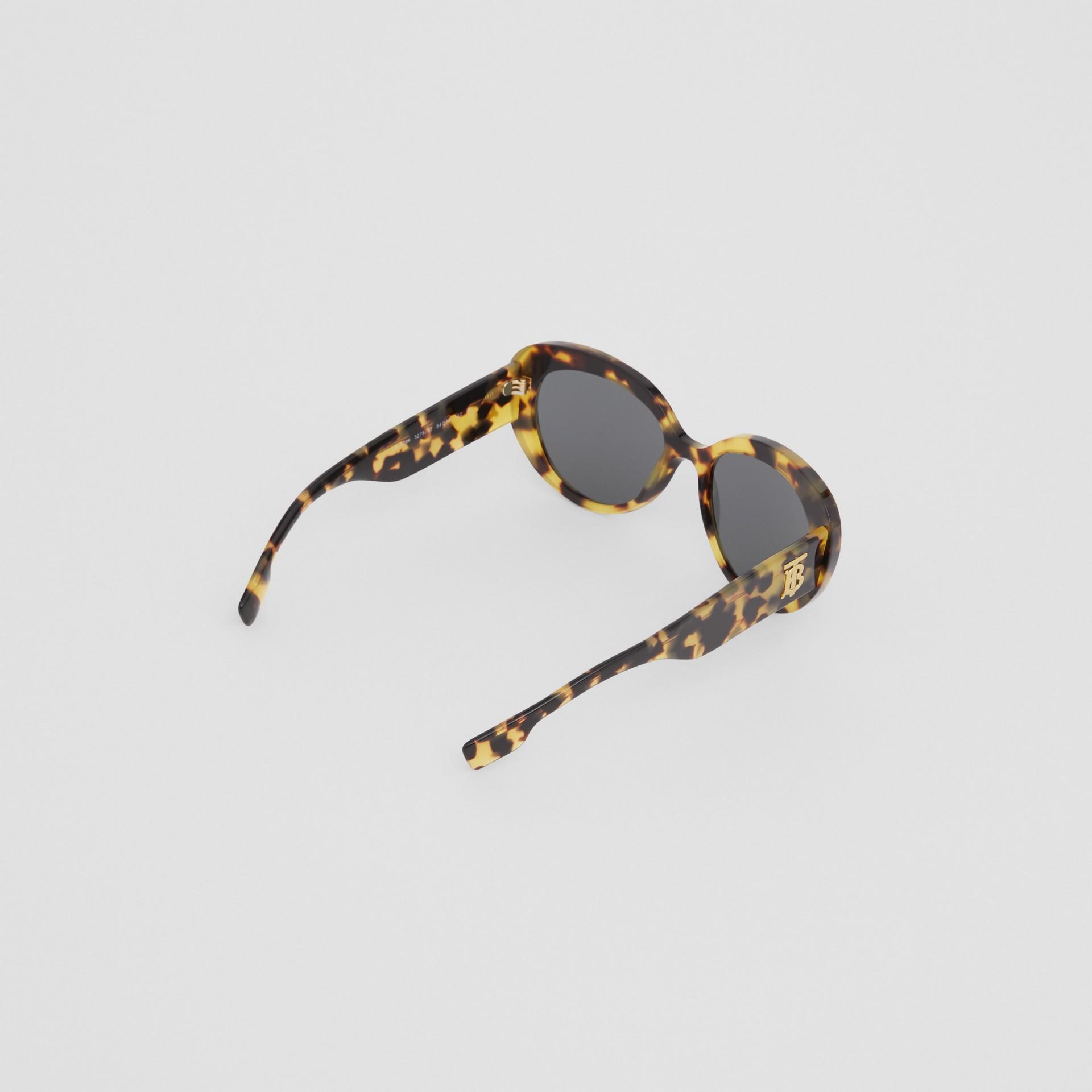 Monogram Motif Cat-eye Frame Sunglasses in Bright Tortoiseshell - Women | Burberry United Kingdom - gallery image 4