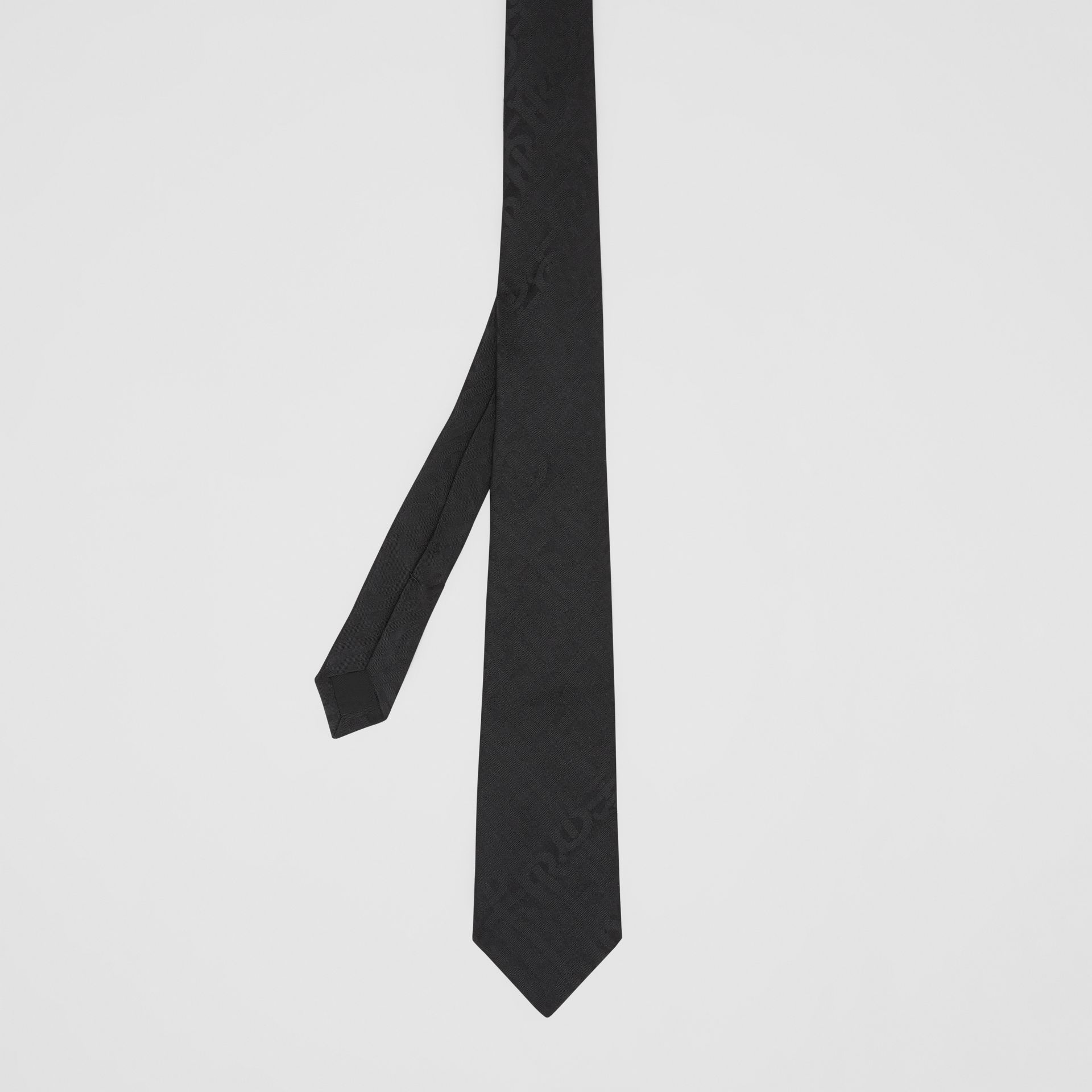 Classic Cut Monogram Silk Jacquard Tie in Black - Men | Burberry - gallery image 4