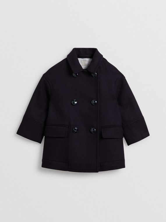 Double-faced Wool Pea Coat in Navy