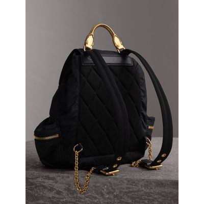 Buy Cheap Official Burberry The Medium Rucksack in Two-Tone Nylon and Leather Cheap For Sale Clearance Best Place OJ0azdU