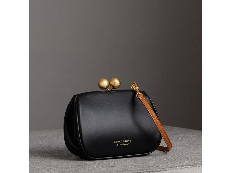 Small Leather Frame Bag in Black - Women | Burberry - cell image 4