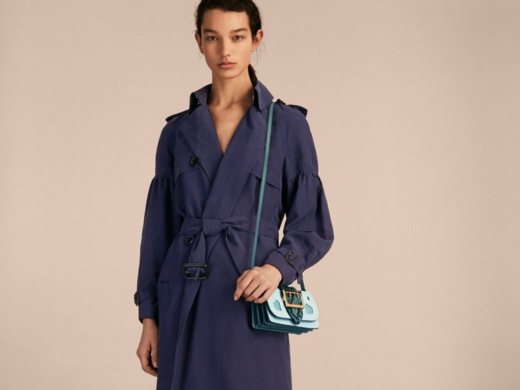 The Patchwork in Snakeskin and Suede in Blue - Women | Burberry - cell image 1