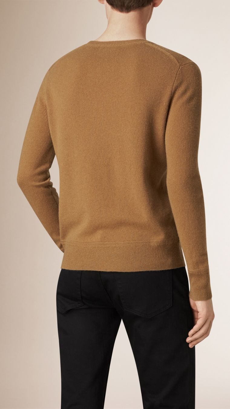 Mid camel Crew Neck Cashmere Sweater Mid Camel - cell image 1