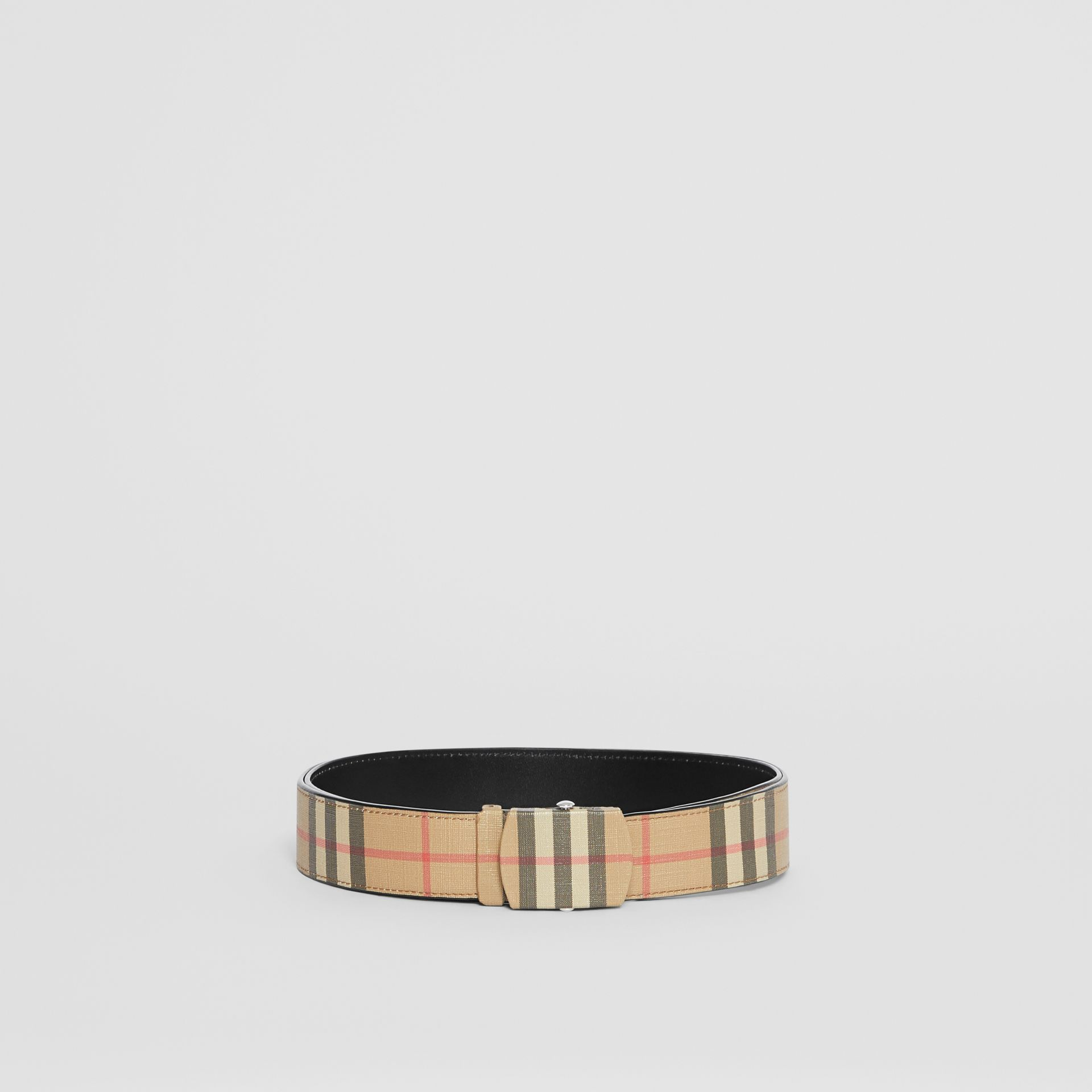 Vintage Check E-canvas Belt in Archive Beige - Men | Burberry United Kingdom - gallery image 3