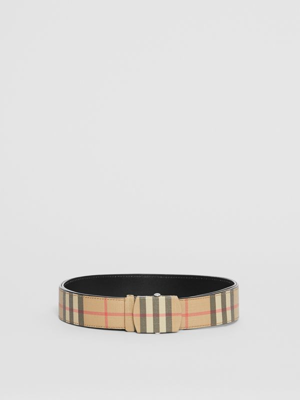 Vintage Check E-canvas Belt in Archive Beige - Men | Burberry United Kingdom - cell image 3