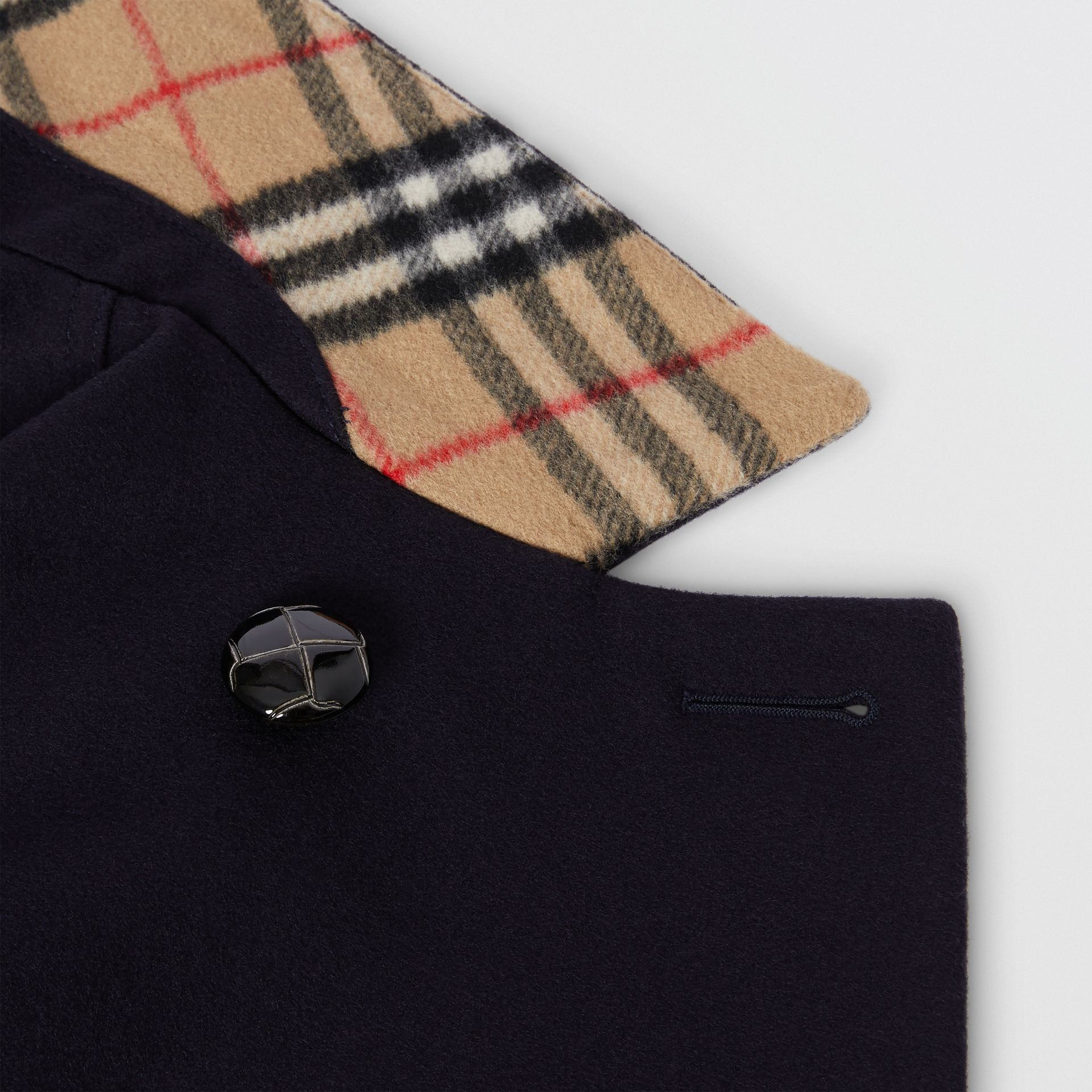 Wool Tailored Pea Coat in Navy | Burberry United Kingdom - gallery image 1