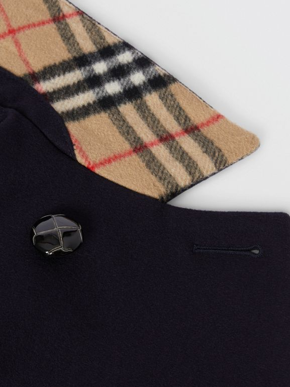 Wool Tailored Pea Coat in Navy | Burberry United Kingdom - cell image 1
