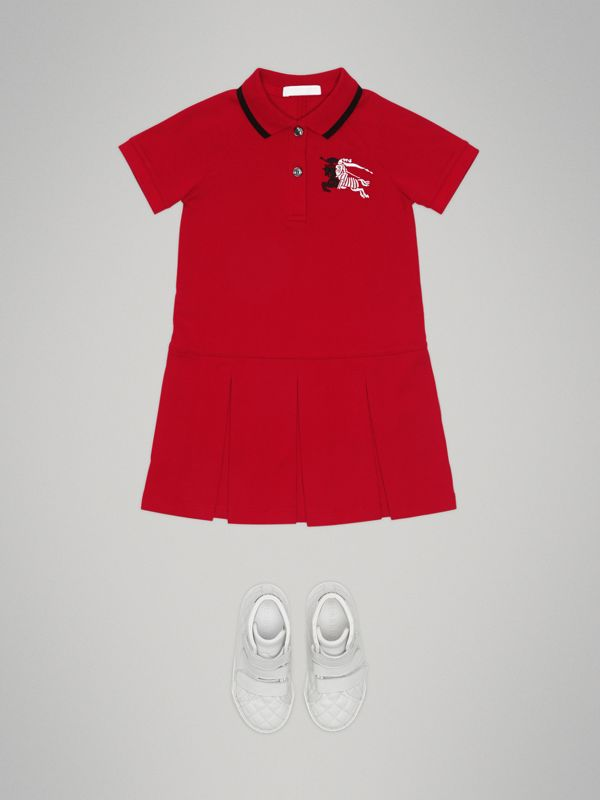 Robe polo avec bande (Rouge Vif) | Burberry - cell image 2