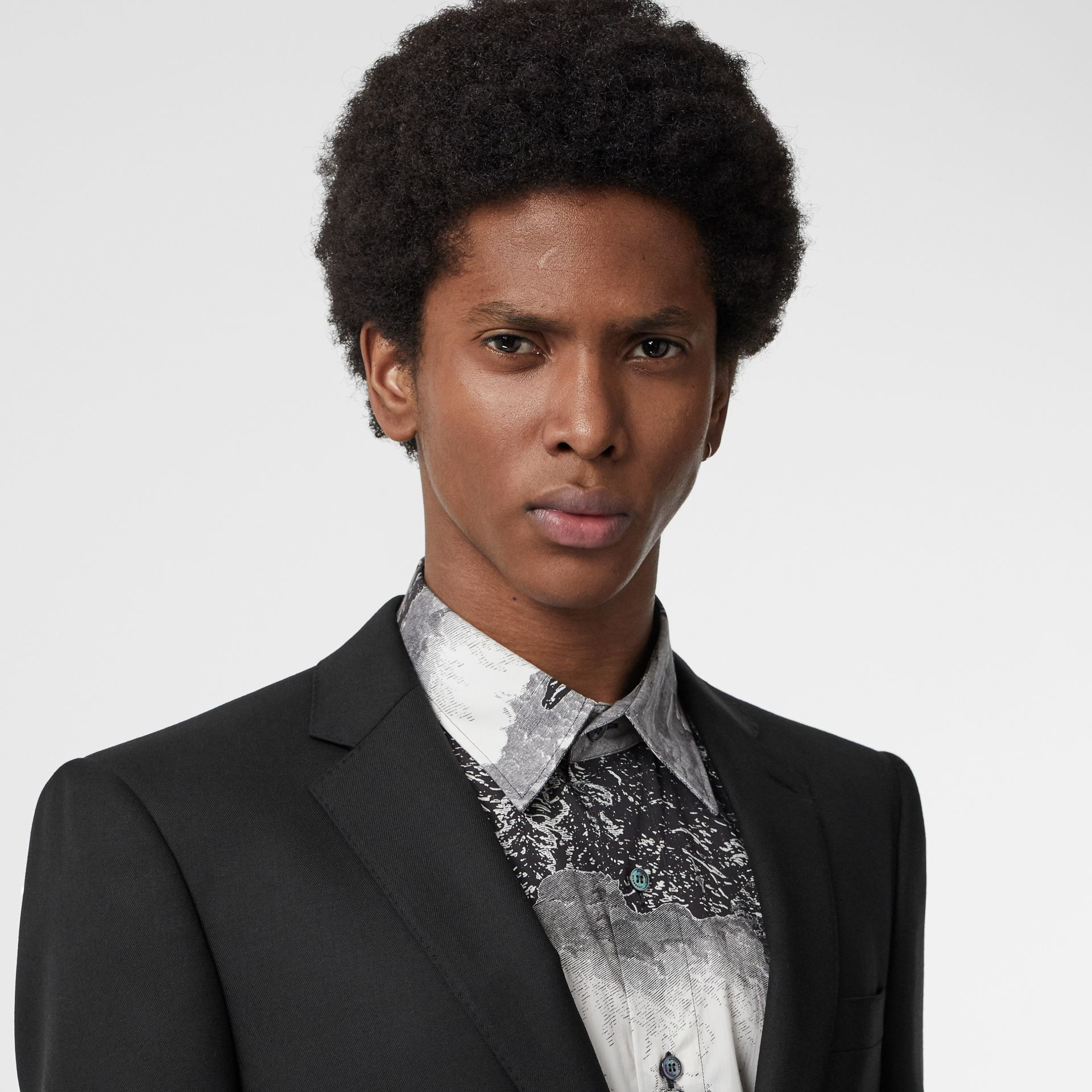 Classic Fit Wool Twill Suit in Black - Men | Burberry Canada - gallery image 1