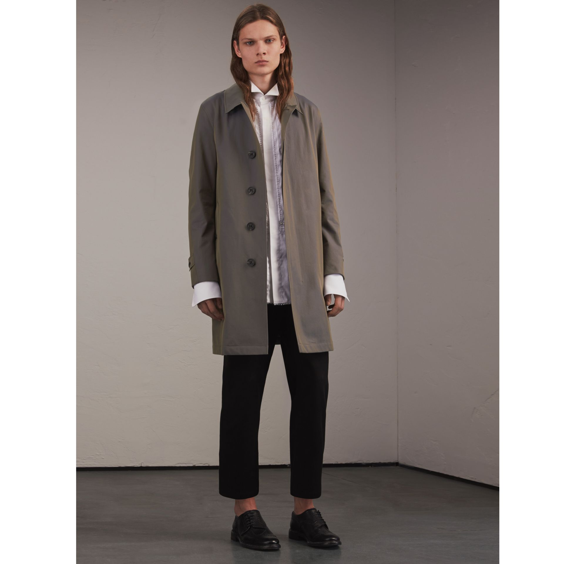 Tropical Gabardine Car Coat Storm Blue - gallery image 1