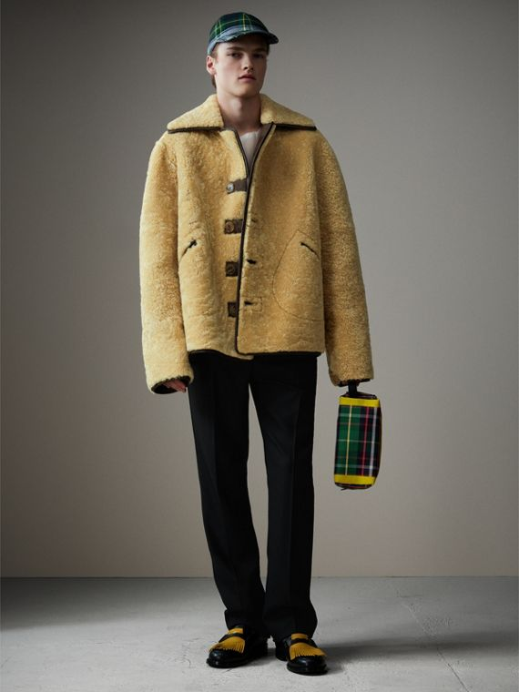 Beauty case in cotone con motivo tartan (Verde Foresta) | Burberry - cell image 3