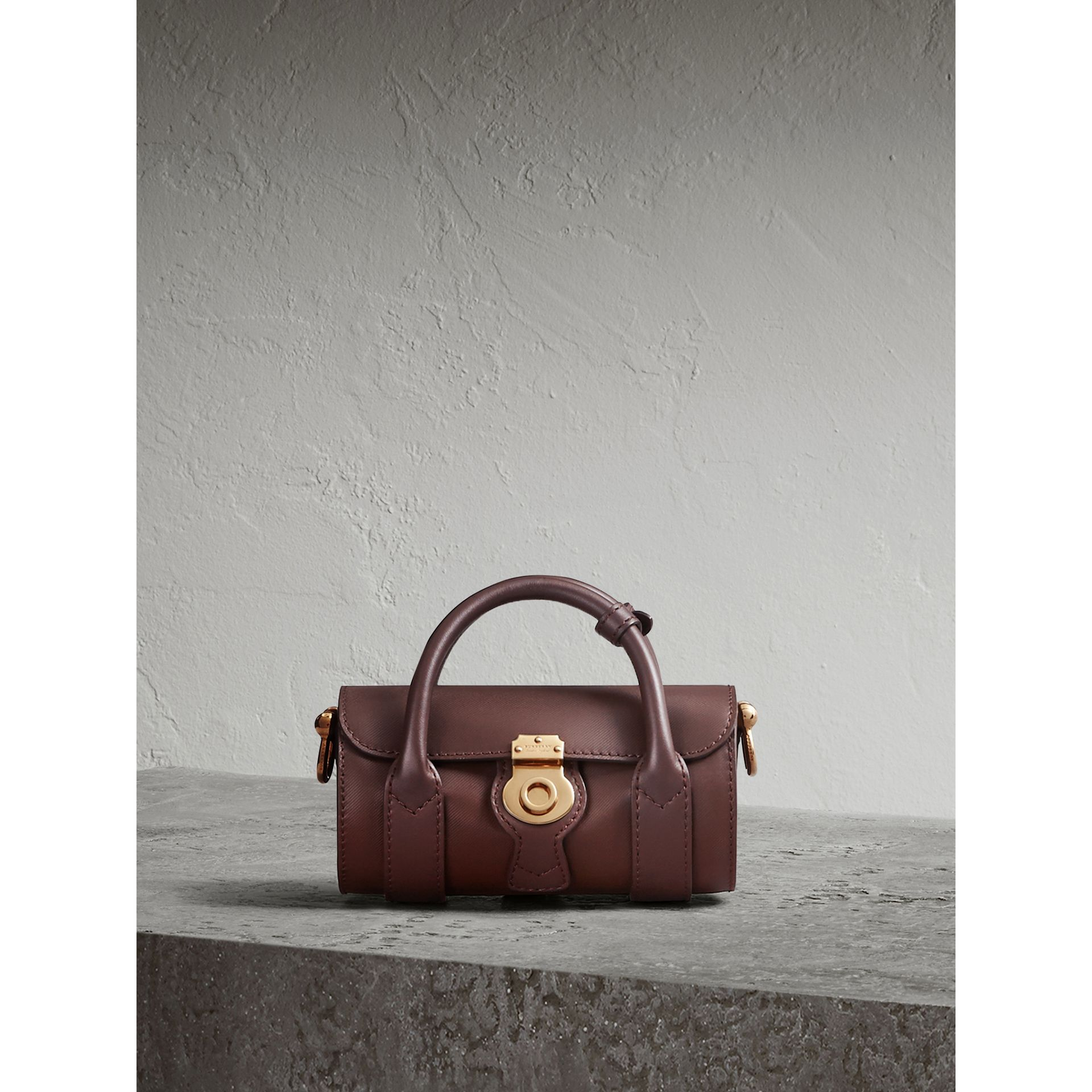 The Mini DK88 Barrel Bag in Dark Chocolate - Women | Burberry United Kingdom - gallery image 1