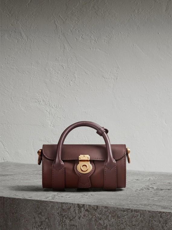 The Mini DK88 Barrel Bag in Dark Chocolate