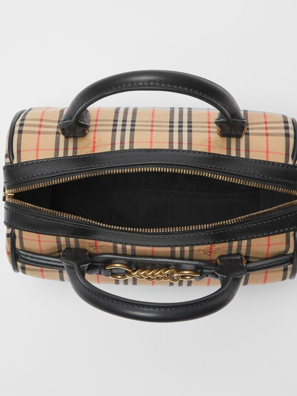 The Small 1983 Check Link Bowling Bag in Black - Women | Burberry - cell image 3