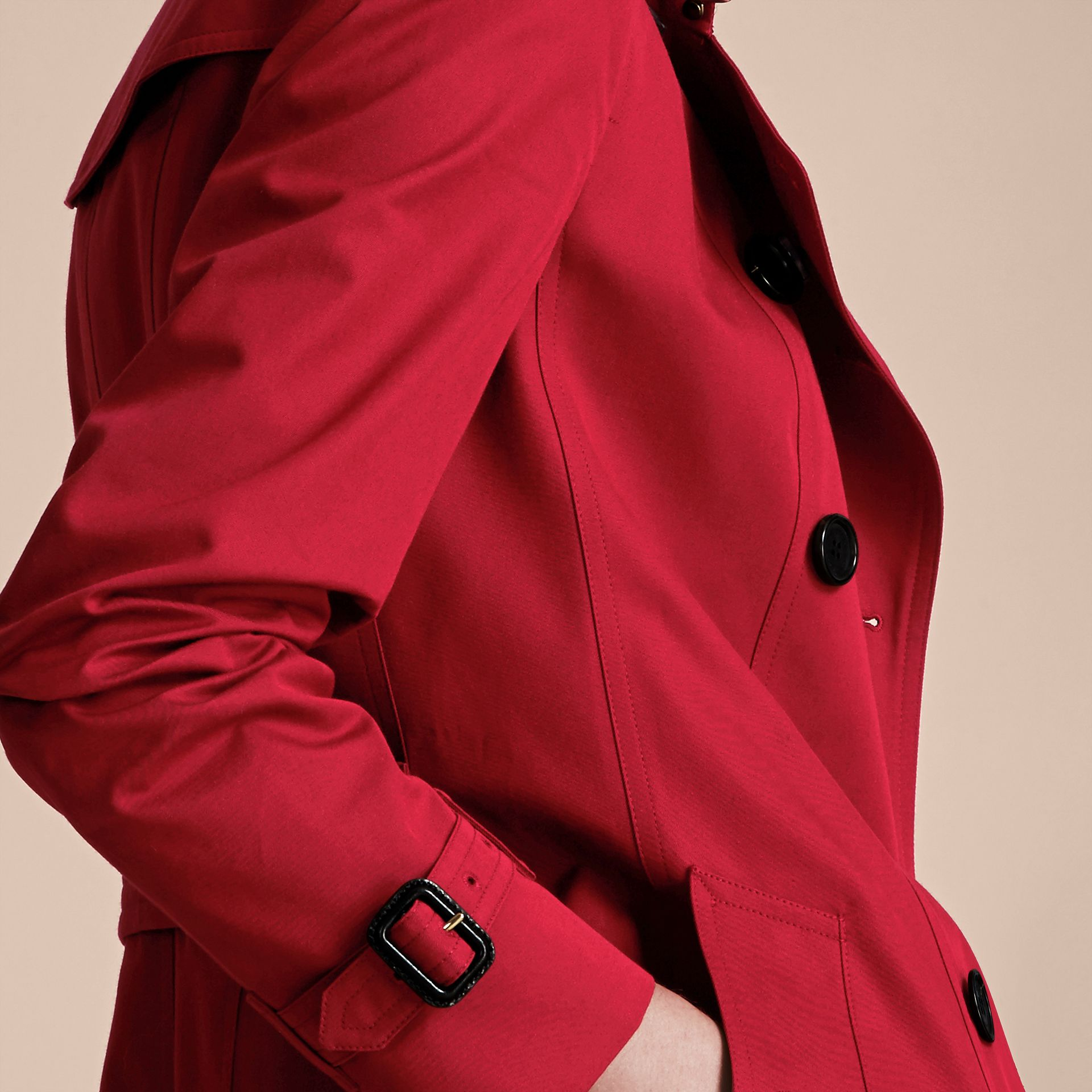 Parade red The Sandringham – Mid-length Heritage Trench Coat Parade Red - gallery image 7
