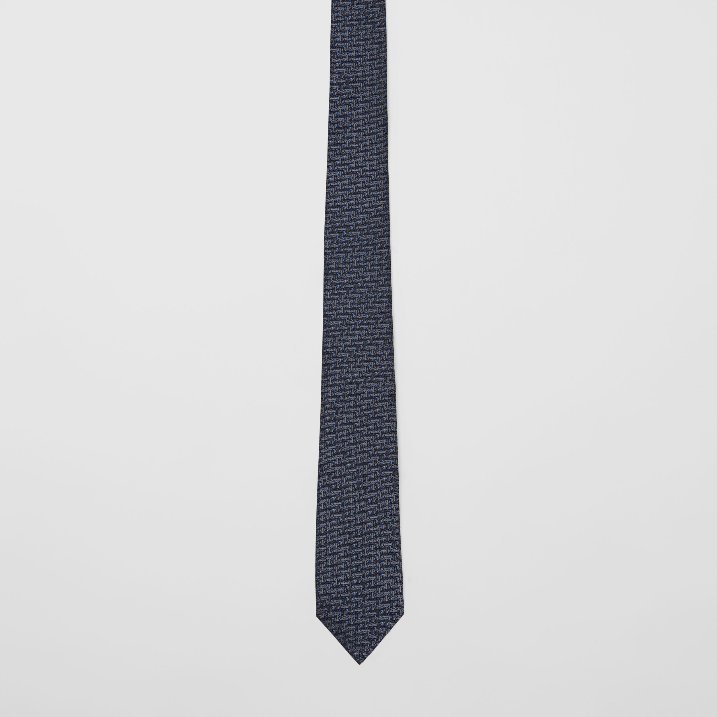Classic Cut Monogram Silk Jacquard Tie in Canvas Blue - Men | Burberry - 4