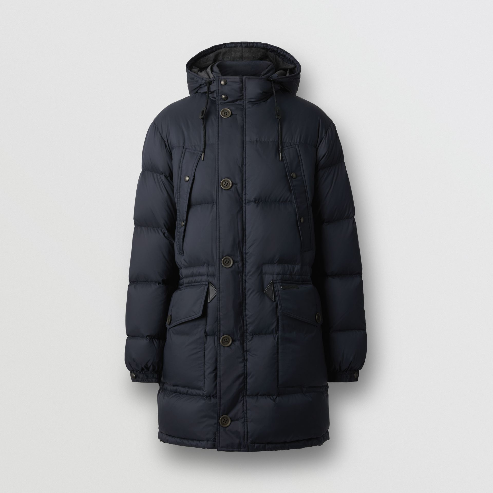 Hooded Puffer Coat in Navy - Men | Burberry - gallery image 3