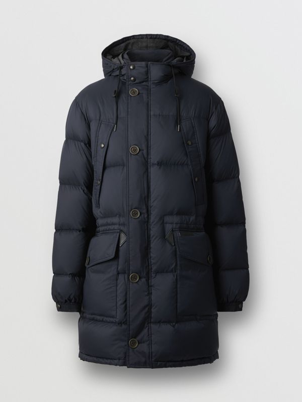 Hooded Puffer Coat in Navy - Men | Burberry - cell image 3