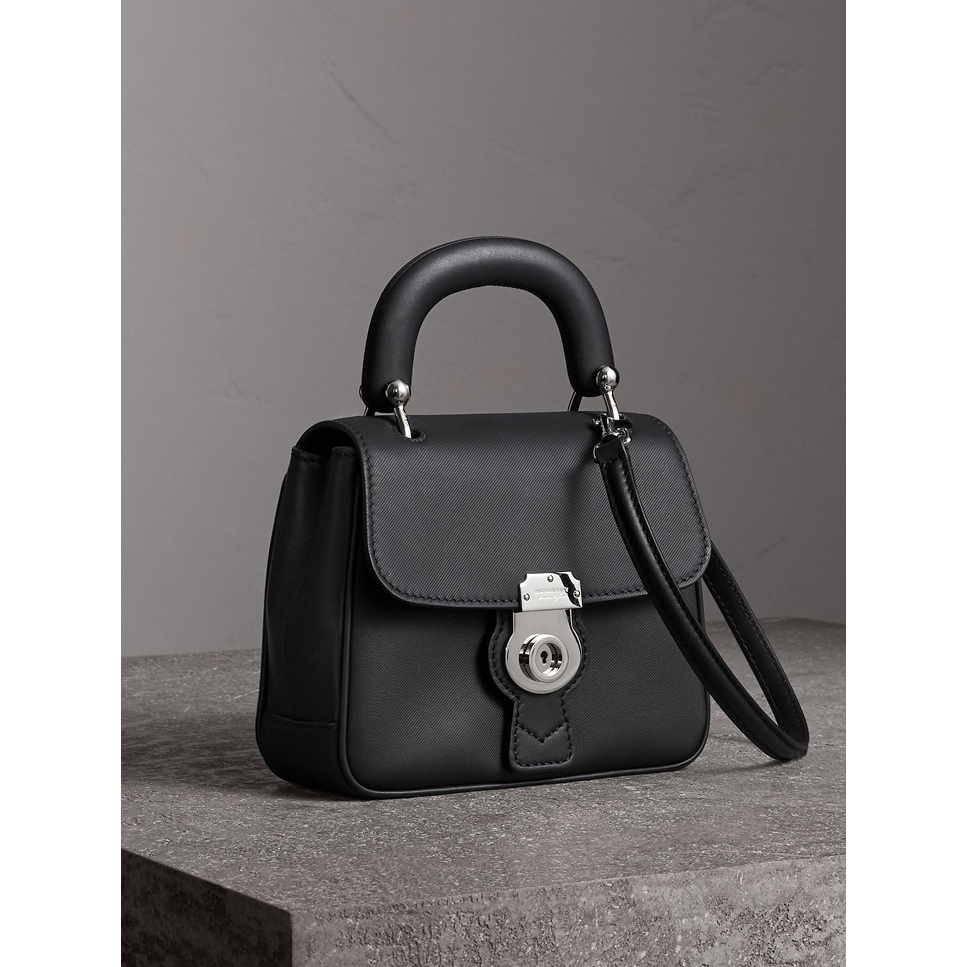 The Small DK88 Top Handle Bag in Black - Women | Burberry - gallery image 6