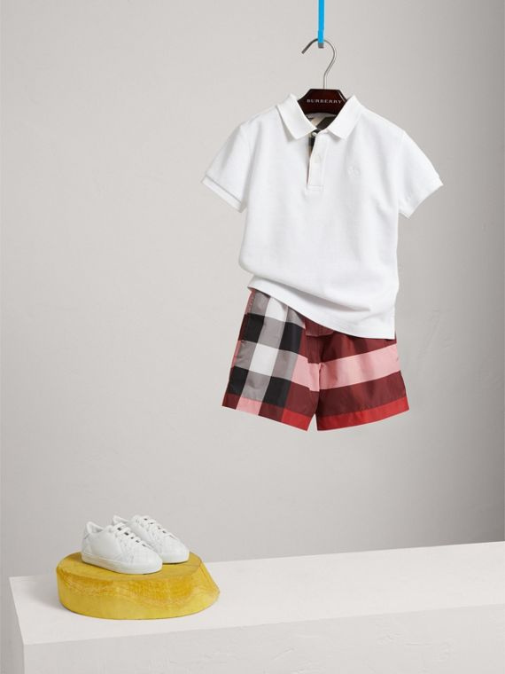 Check Swim Shorts in Parade Red - Boy | Burberry - cell image 2