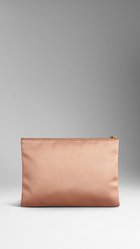 Nude Large Silk Satin Beauty Wallet - Image 2