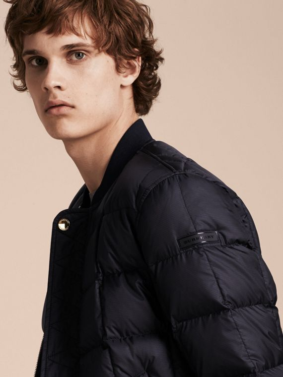 Navy Reversible Down-filled Bomber Jacket - cell image 3