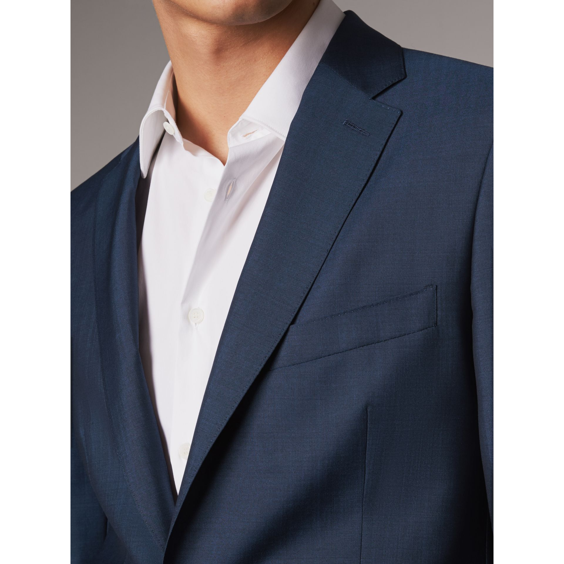 Soho Fit Wool Mohair Suit in Bright Navy - Men | Burberry United States - gallery image 4