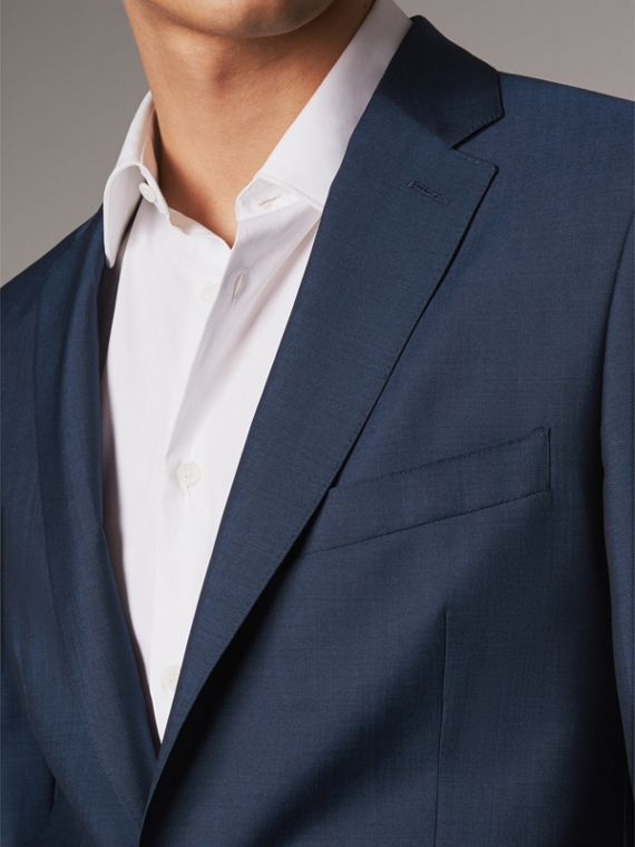 Soho Fit Wool Mohair Suit in Bright Navy - Men | Burberry - cell image 3
