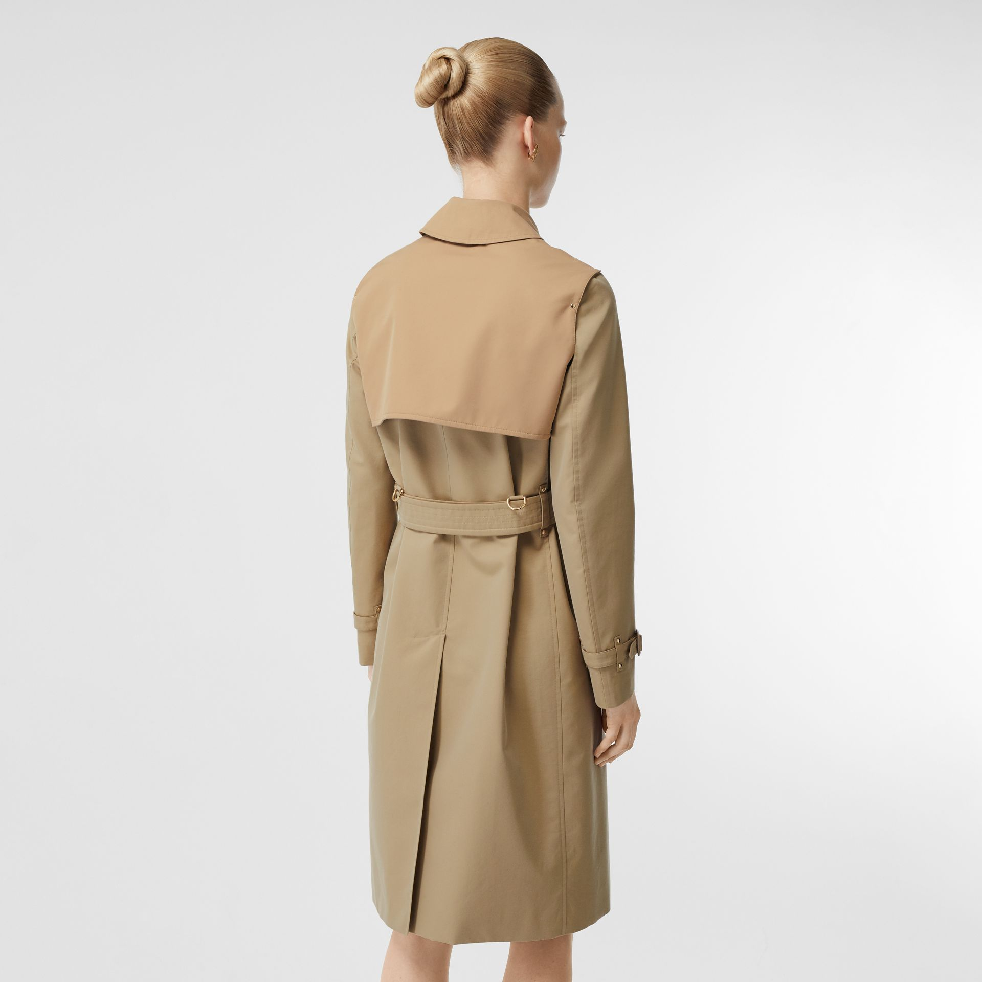 Two-tone Cotton Gabardine Trench Coat in Honey - Women | Burberry Singapore - gallery image 2