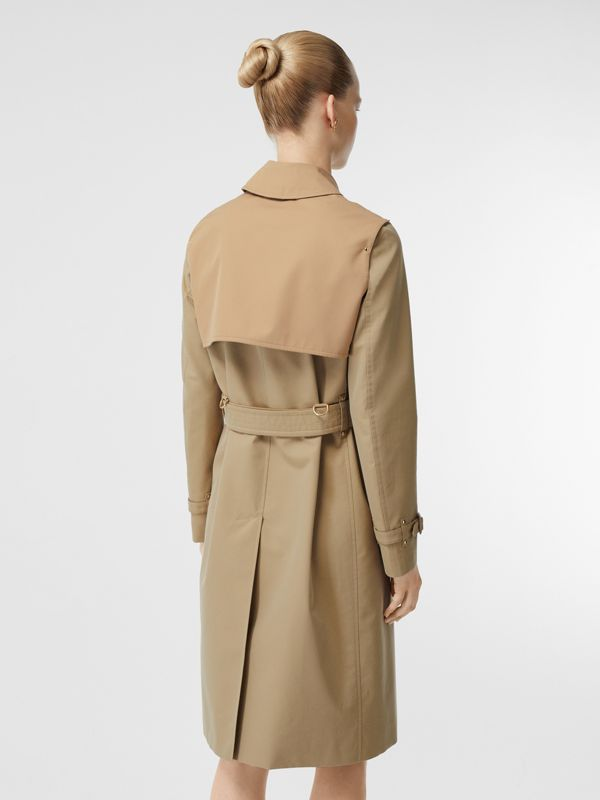 Two-tone Cotton Gabardine Trench Coat in Honey - Women | Burberry - cell image 2