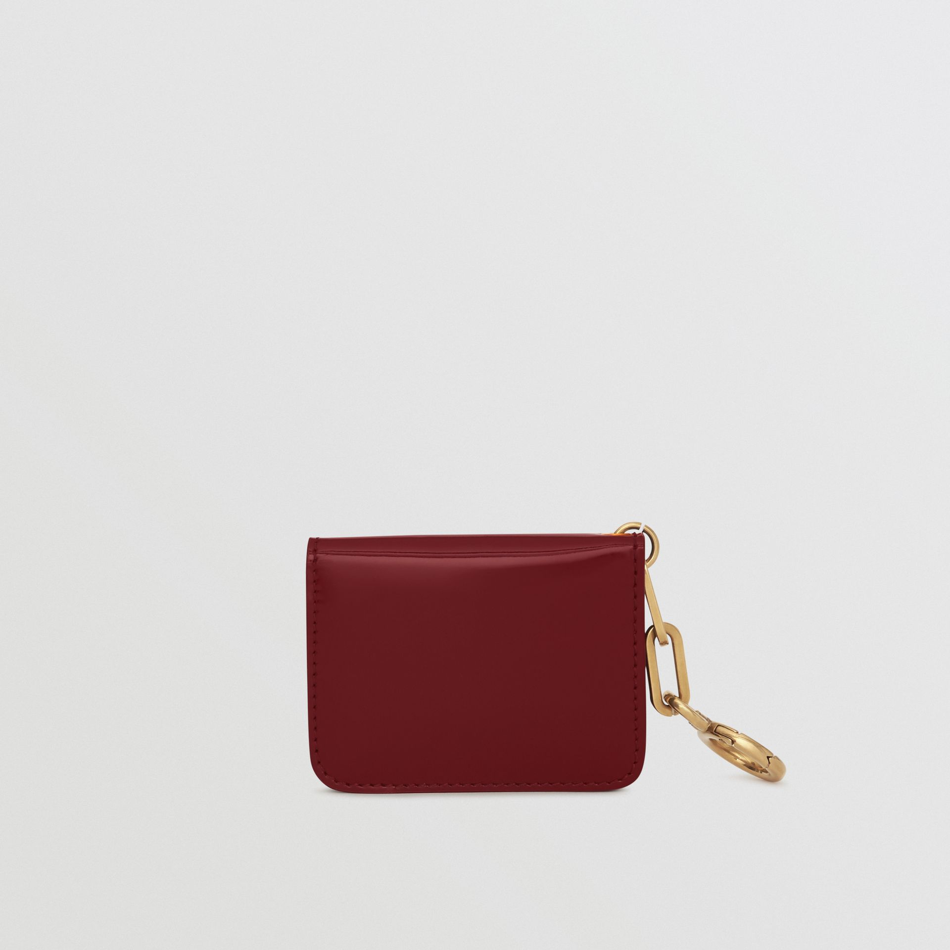 Link Detail Patent Leather ID Card Case Charm in Crimson - Women | Burberry United States - gallery image 5