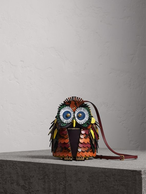 The Owl – Calf Suede and Snakeskin Crossbody Bag - Women | Burberry Singapore