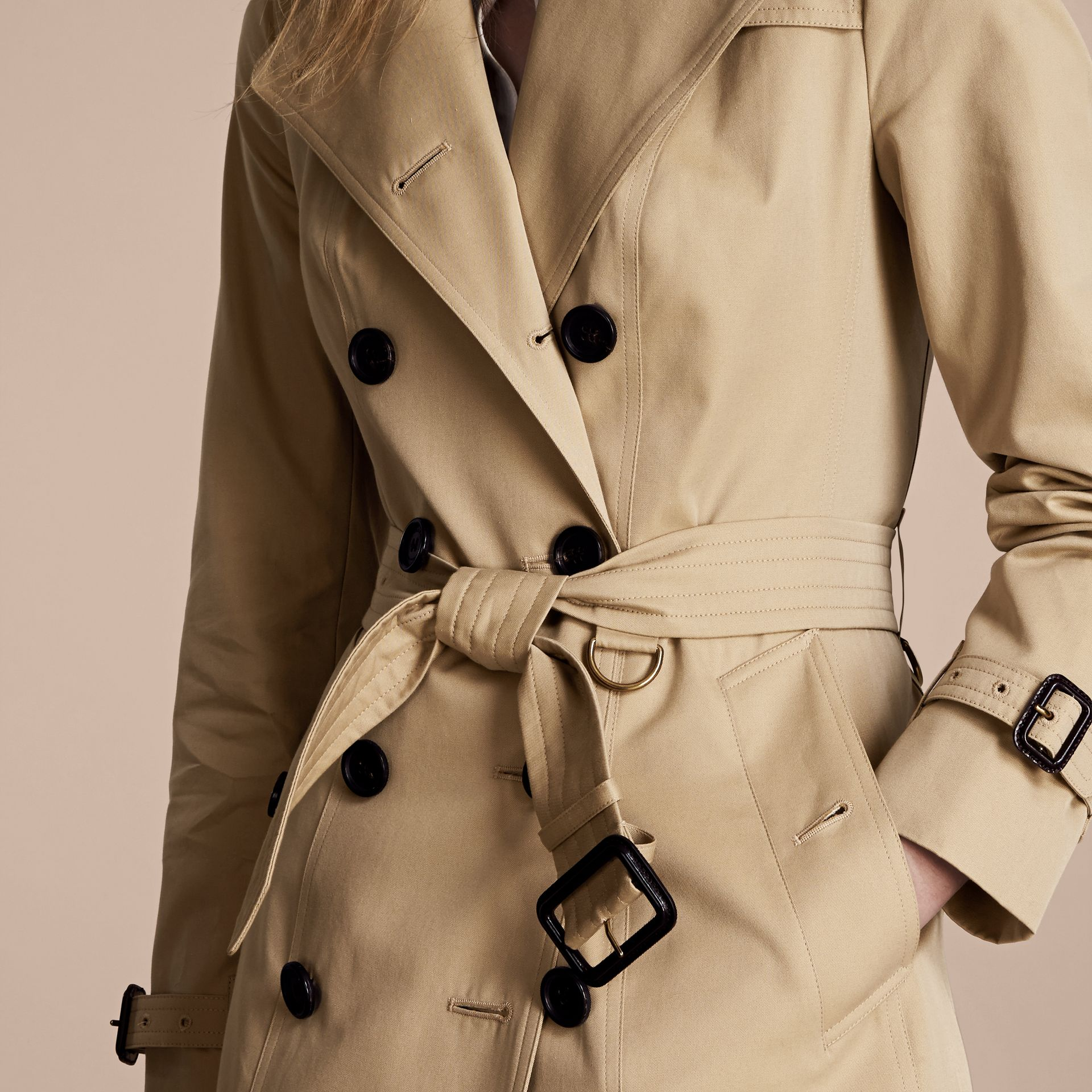 Honey The Chelsea – Mid-length Heritage Trench Coat Honey - gallery image 5