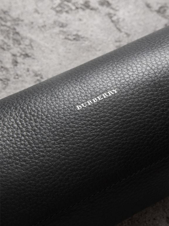 The Leather Barrel Bag in Black - Women | Burberry Canada - cell image 1