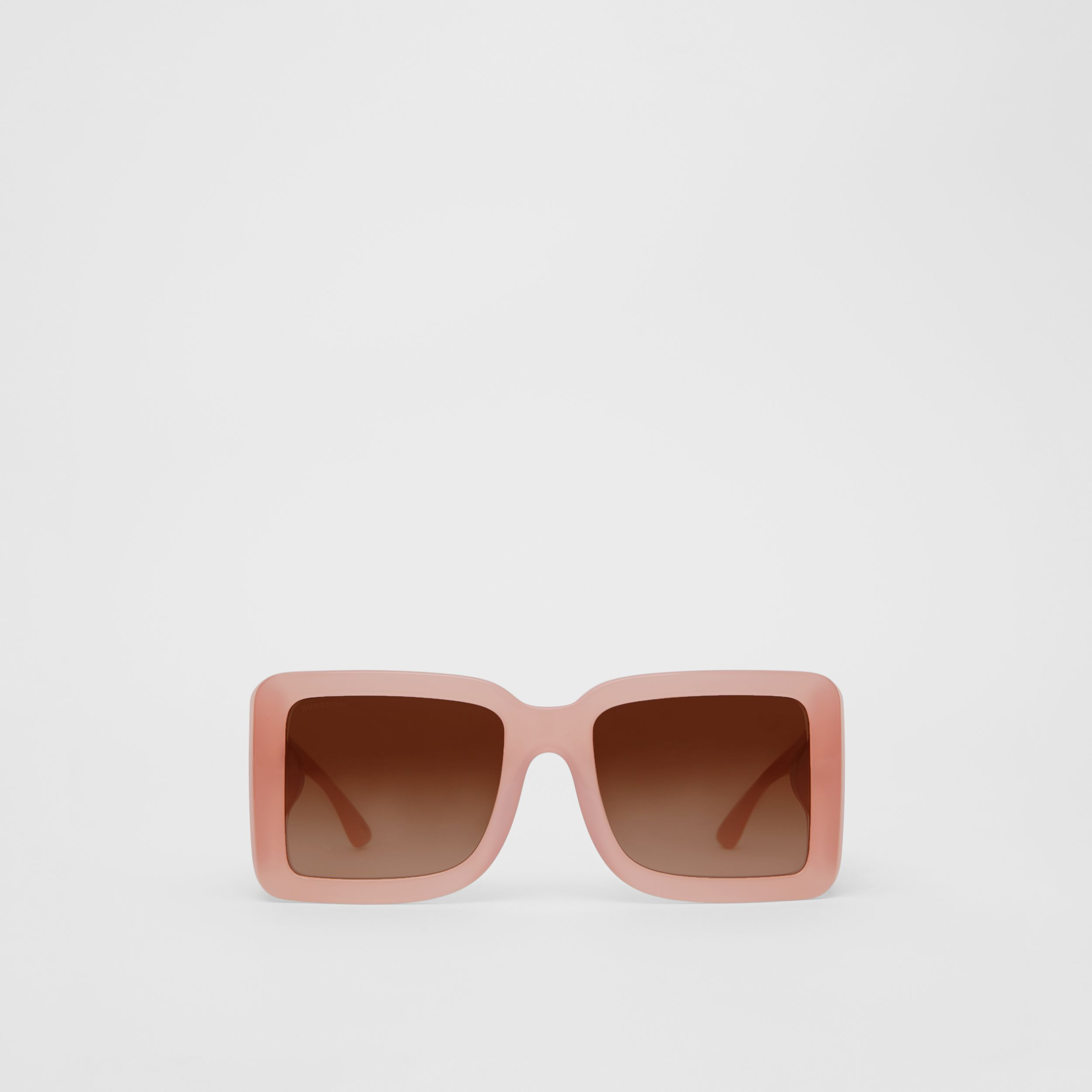B Motif Square Frame Sunglasses in Pink - Women | Burberry - 1